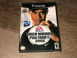 Tiger-Woods-PGA-Tour-2005-Nintendo-Gamecube-w-Case-Authentic