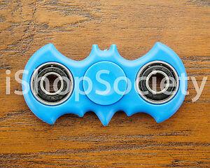 Bat-Fidget-Spinner-Tri-Spinner-EDC-Figet-Hand-Desk-Focus-Toy-ADHD-USA-BLUE
