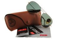 Ray-ban Rb3025 L0205 Aviator Gold Frame Green Lens G-15 58mm Authentic