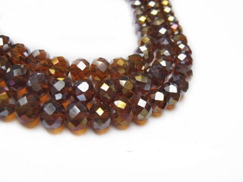 Abalorios de vidrio esmerilado perlas faceteados cristal 2//3mm 3//4mm 4//6mm 6//8mm 8//10mm