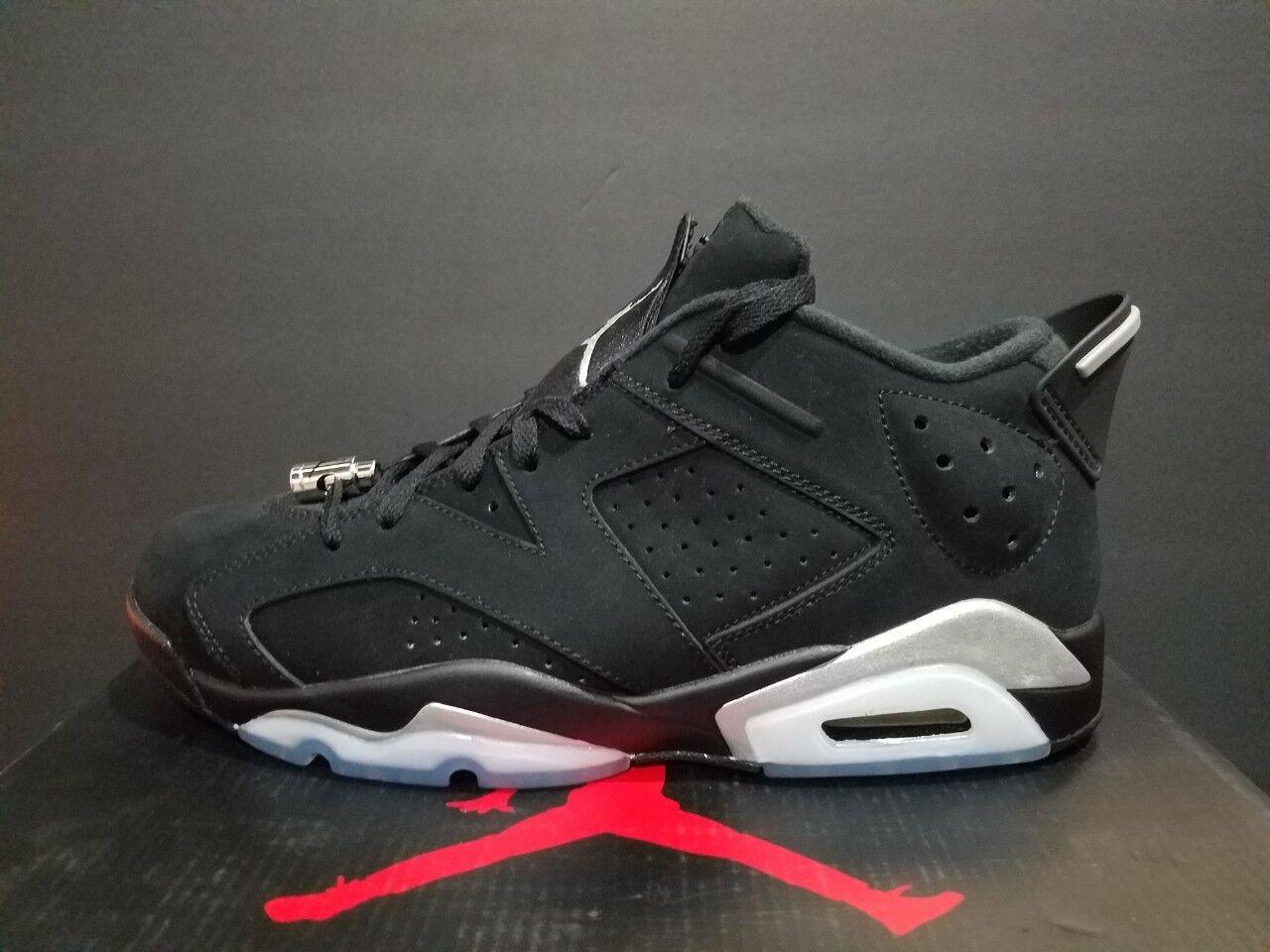 Air Jordan 6 Retro Low Black/Metallic Silver-White 304401 003 The most popular shoes for men and women