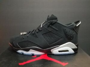 57af6e27b557e2 Air Jordan 6 Retro Low Black Metallic Silver-White 304401 003