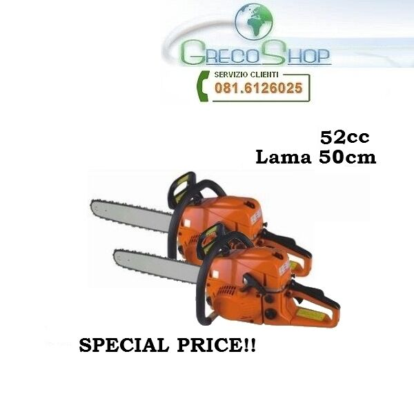 Doppia 2 pezzi Motosega Potatore 52cc lama 50cm - Offerta Limitata