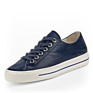 buy online ab300 6a862 Details zu Paul Green Damen Sneaker Halbschuhe Schnürschuh Freizeitschuh  Leder Schuhe blau