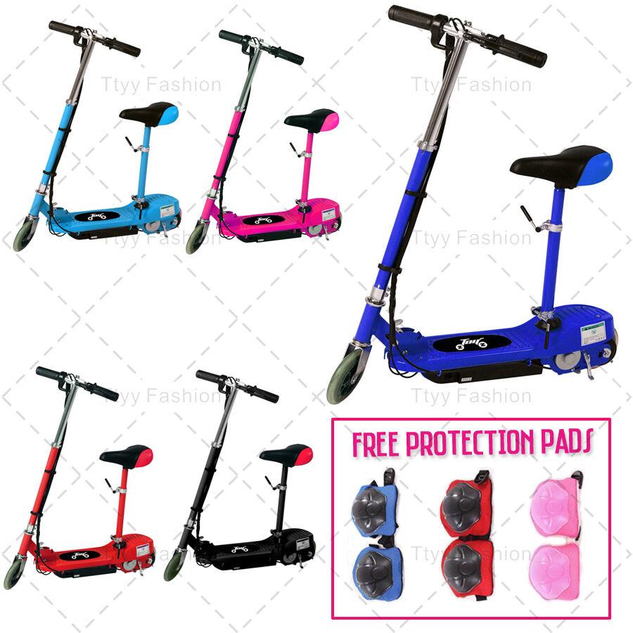 Una nueva scooter infantil con 120w montada en un asiento móvil Cochegado de baterías de juguete.