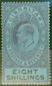 Gibraltar-1903-8s-Dull-Purple-amp-Black-Blue-SG54-Fine-Mtd-Mint-5