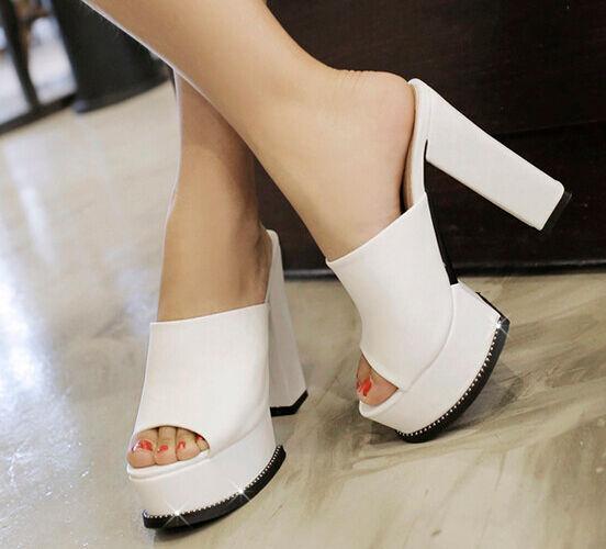 Zapatos zapatillas zuecos sandalias tacón alto 11 cm cómodo negro élégant 9303