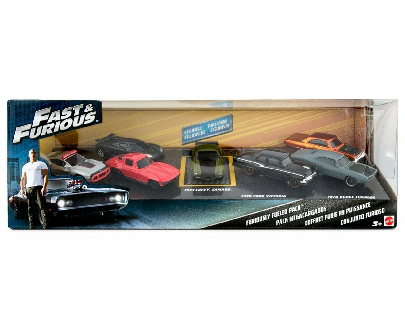 Fast & Furious Set of 7 vehicles in blister Collectible  fgw70 Mattel 2017  pour pas cher