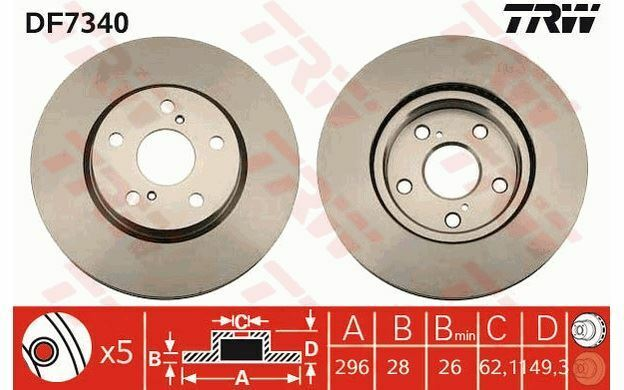 Brembo 09.A717.10 Bremsscheibe Paar