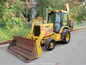 John Deere 310D 4WD Backhoe Wheel Loader Tractor Cab E-Stick M/P Bucket bidadoo
