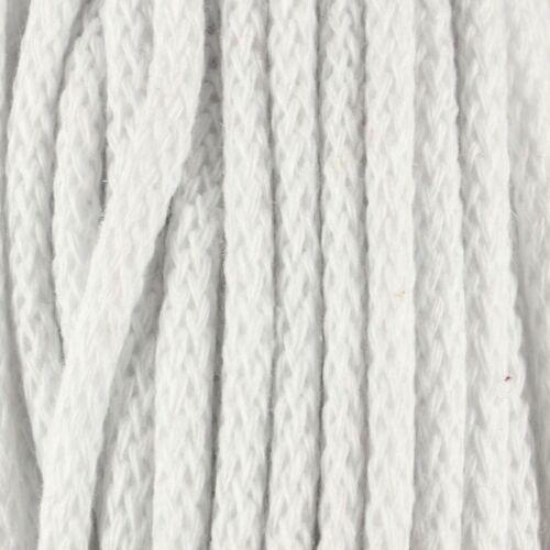 5 metros de 0,22 €//m baumwollkordel 5mm cordel algodón cuerda