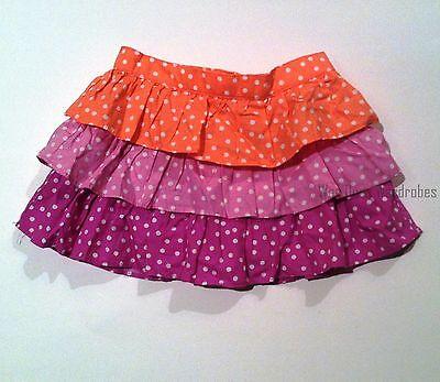 Gymboree Pinwheel Pastels Coral Purple Ruffle Skirt Dots SZ 12-18 2T 4T 5T  NEW