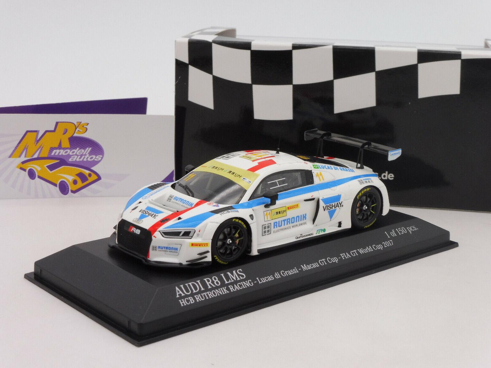 online barato Minichamps 437171711     audi r8 LMS nº 11 macao GT Cup 2017  hcb racing  1 43  autorización oficial