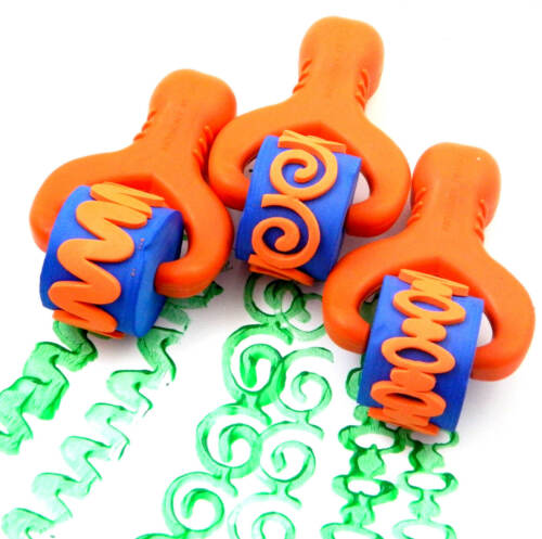 3 Chunky Easy-Grip Paint /& Dough Rollers Set 1 - Ovals, Swirls and Waves