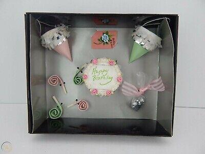 Gene Doll Birthday Party Set with shipper  NIB
