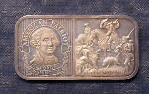 Details about The Silver Mint American Patriot George Washington 20 Gram  Silver Art Bar