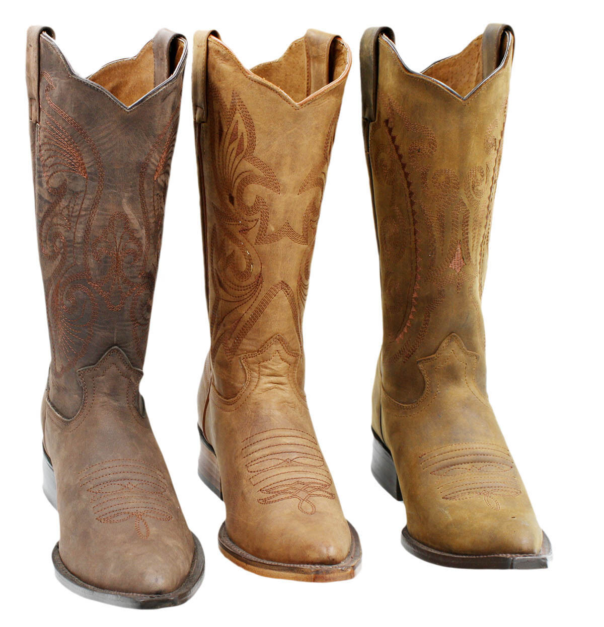 MEN'S GENUINE LEATHER WESTERN STYLE COWBOY BOOTS Style 501