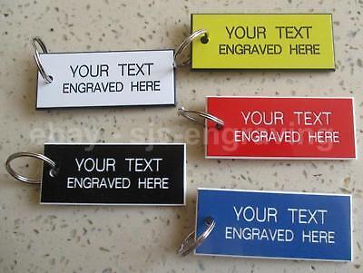 Personalised Engraved Key Tags Fobs 60mm x 25mm Hotels Pubs B/&B Luggage Garage