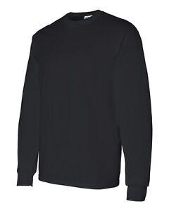 3-Gildan-Heavy-Cotton-5400-Black-Long-Sleeve-T-Shirt-Bulk-Lot-ok-to-mix-S-XL
