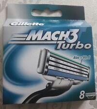 8 Gillette Mach 3 Turbo Ersatzklingen, Rasierklingen, Original in OVP NEU