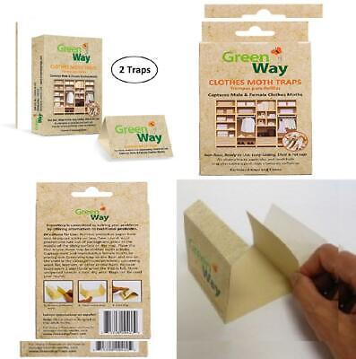 Greenway Clothes Moth Traps 2 Traps Per Box Pheromone