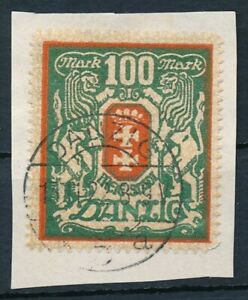 Danzig-Nr-101-Y-gestempelt-Briefstueck-geprueft-Infla-Erdwien-BPP-64567