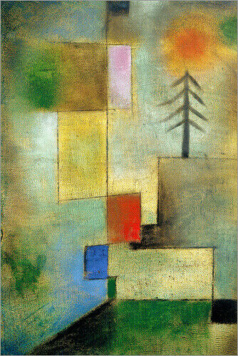 Acrylglasbild Kleines Tannenbild Paul Klee