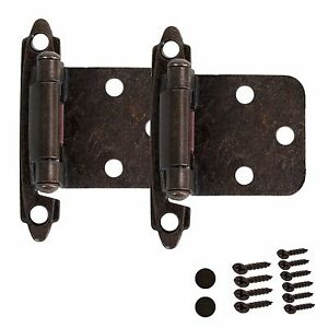 kitchen cabinet hinges self closing door overlay oil rubbed bronze rh ebay com