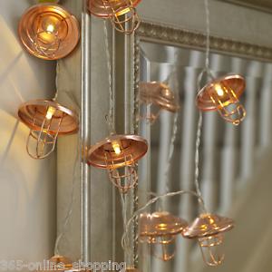 10 Rose Gold Mini Cage Lantern String Lights Bedroom Geometric Led Bulbs Copper 5055354250316 Ebay
