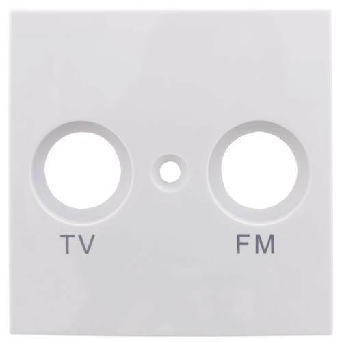 Rev placca di copertura presa tv radio studio bianco 0208630106