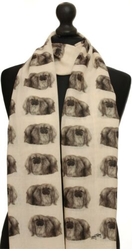 Pekingese scarf with dogs on womens fashion gift present shawl wrap mike sibley