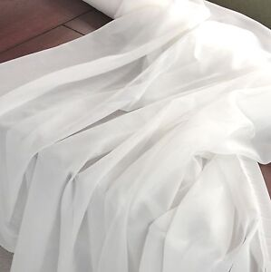 100-Yards-60-034-White-Chiffon-Sheer-Draping-Fabric-Wedding-Party-Decoration-Event