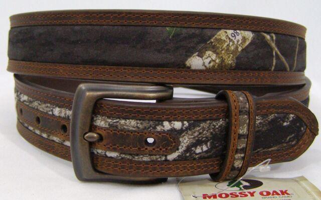 Mossy Oak CAMO Brown Leather ~MAN/'S WESTERN BELT~ Hunter Cowboy NOCONA  N24362
