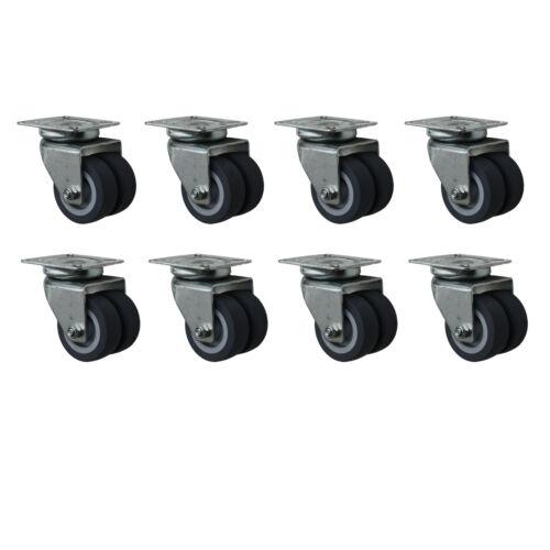 8 Stück Apparaterollen 50-75 mm Lenkrollen Strandkorbrollen Doppelrollen