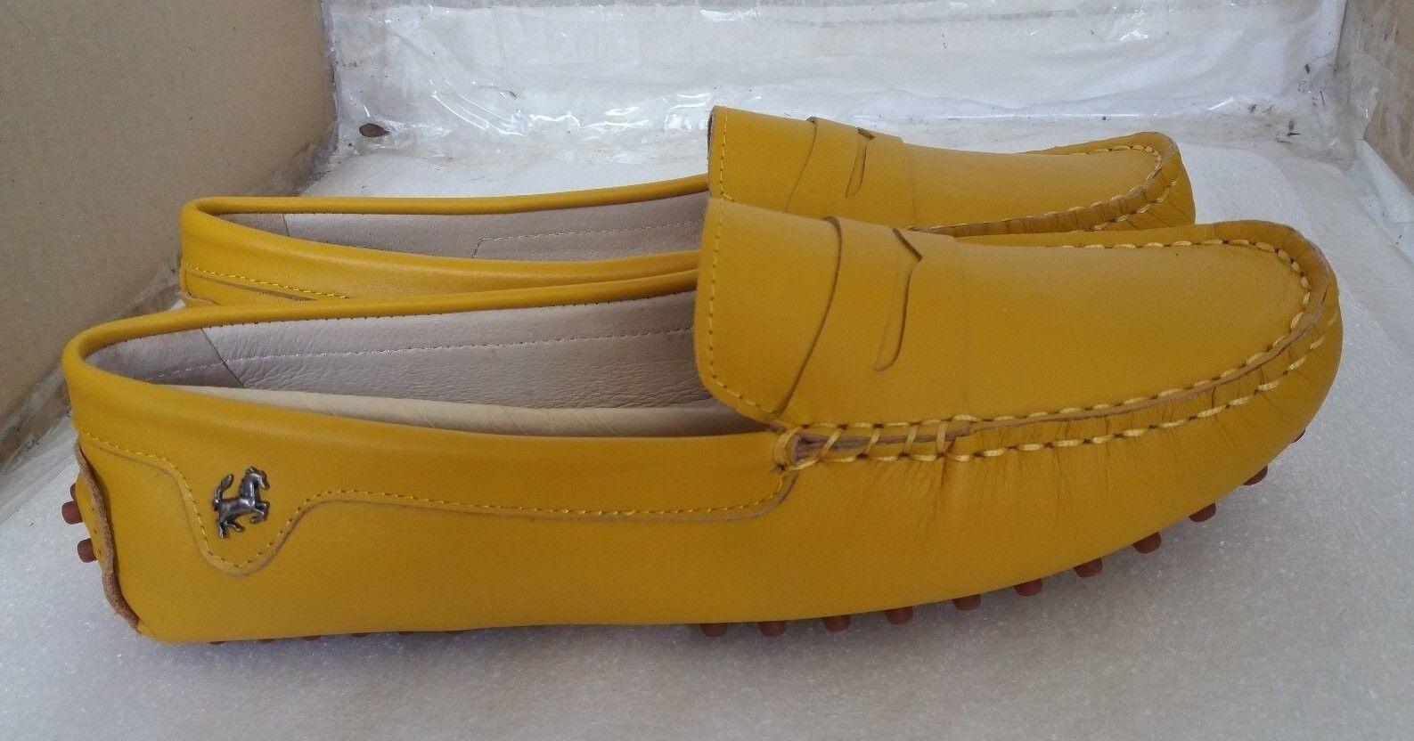 Goeao Lujo Mujer Casual De Lujo Goeao De Cuero Sin Cordones Mocasines para Conducir-Amarillo- 18101b