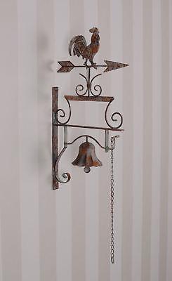 GemäßIgt Gartenglocke Shabby Chic Glocke Hahn Wandglocke Garten Klingel Verschiedene Stile Antiquitäten & Kunst