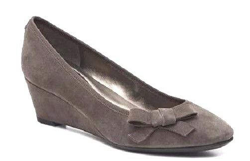 Easy Spirit Shyma wedge pumps dark taupe brown suede leather 9.5 Md NEW
