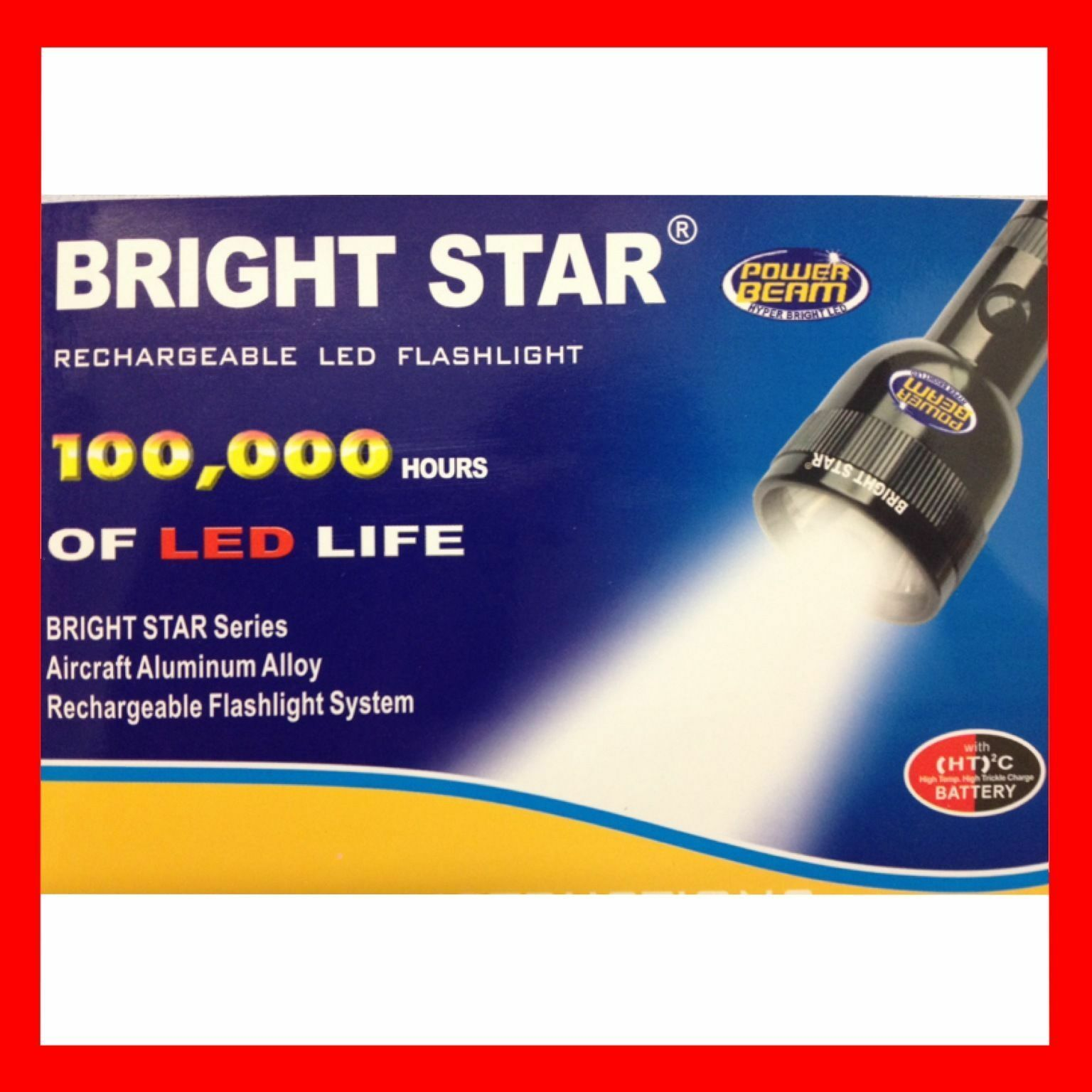 Bright Star Flashlight rechargable Led Flashlight Star With Power Beam bf5ad3