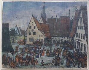 Das-Volksfest-kleines-Gemaelde-19-Jhd