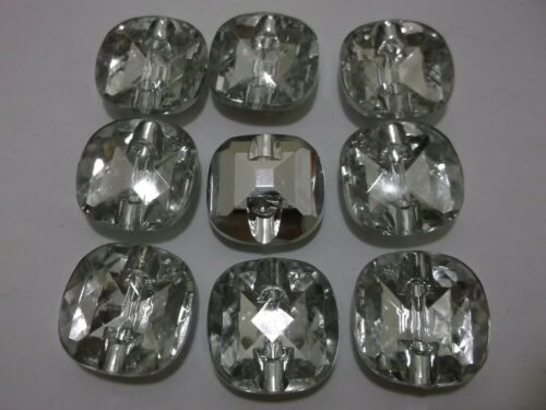 Buy2Get 3rd 50/% OFF 10-200 Round Plastic Crystal 1 Hole Rhinestone Faux Buttons