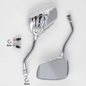 Coppia-Specchietti-Retrovisori-Scooter-Specchi-Moto-Custom-Cromo-DX-SX-8-10mm