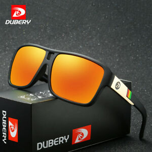 2df4e69445f3 Image is loading DUBERY-Polarized-Mens-Sunglasses-Square-Cycling-Sport- Driving-