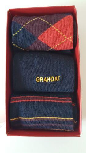 Confezione di 3 PAIA 10-12 Grandad Calzini Marks and Spencer
