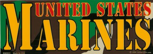 Camouflage Camo U.S.M.C Marine Corps Veteran BUMPER STICKER Made In USA