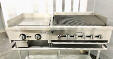 36 Char Broiler 2 Grill Flat Griddle Package New Heavy Duty Char Gill