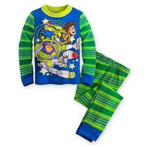 b5b50dd9b Disney Store Toy Story Buzz Lightyear Boy 2PC Long Sleeve Pajama Set ...