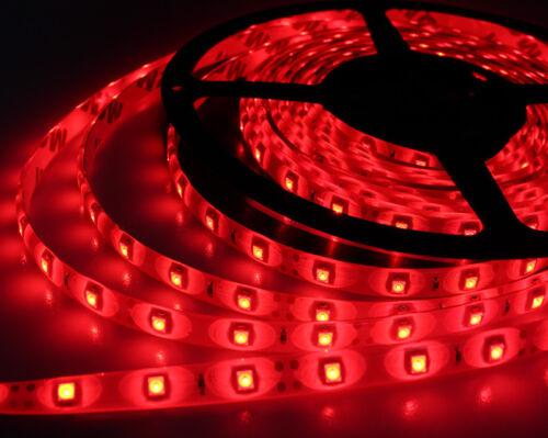 LED Strip Light 5M Flexible 300LEDs  Red DC12V Waterproof For Boat Car// Suv //