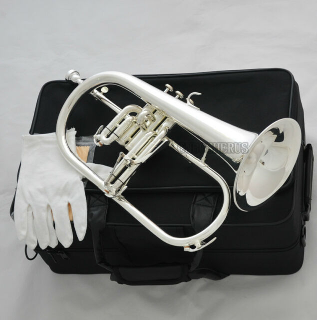 Professional Silver Plated Flugelhorn Monel Valves Bb Flugel New Horn With Case