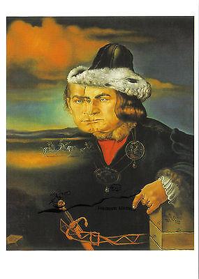 Freundlich Kunstpostkarte - Salvador Dali: Laurence Olivier Als Richard Iii Kaufen Sie Immer Gut