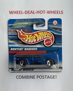 HOT Wheels - 2000-Pontiac rageous-BLU-RARE! - MOC!